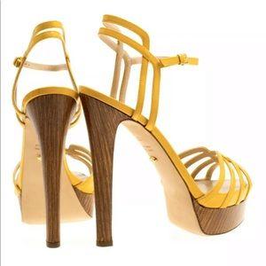 Sergio Rossi Patent Leather Platform Sandals 36.5